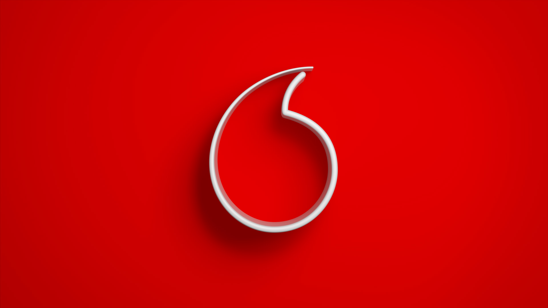 Vodafone Speechmark Red